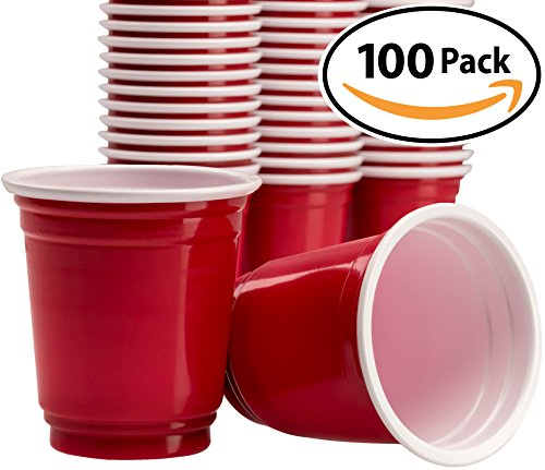 Premium Red Disposable Shot Glass 100 Pack By Avant Grub. 2