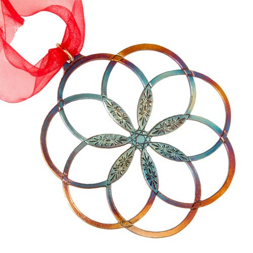 7 Rings of Peace Ornament with Ribbon by From War to Peace
