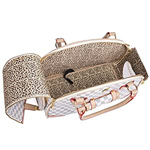 WOpet Fashion Pet Dog Carrier PU Leather Dog Carriers Luxury Cat Travel Carrying Handbag for Outdoor Travel Walking Hiking