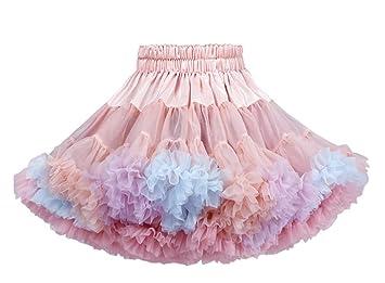 Falda plisada de gasa suave y suave para niña 1# Talla:80 cm ...
