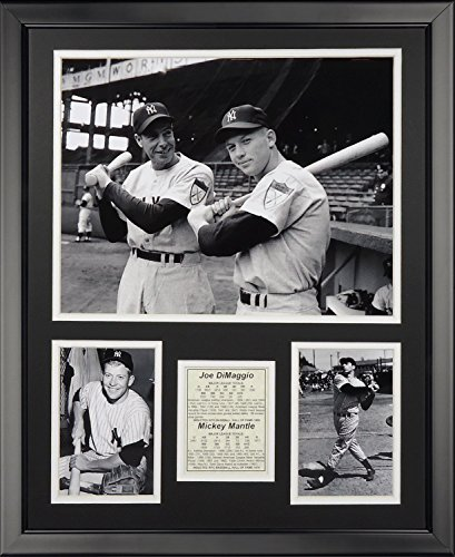 Legends Never Die Joe DiMaggio & Mickey Mantle Framed Photo Collage, 16