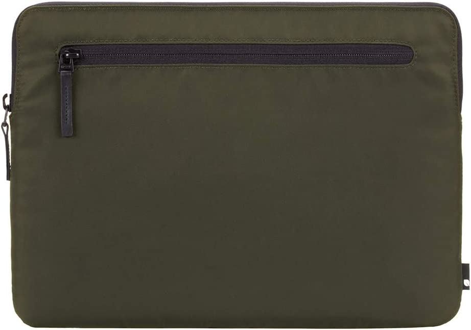 Incase Compact Foam Padded Flight Nylon Sleeve with Accessory Pocket for Most Tablets + Laptops up to 13 inches - Olive