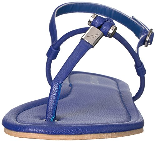 Mazarine Blue Women's Flat Nautica Lateen Sandal Uqn70