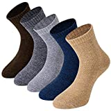 Mens Warm Thick Winter Crew Socks Cushioned Fleece Lined Thermal Boot Hiking Socks