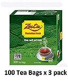 Zesta BOPF 100% Pure Ceylon Tea, 100-Count Tea Bags (Pack of 3)