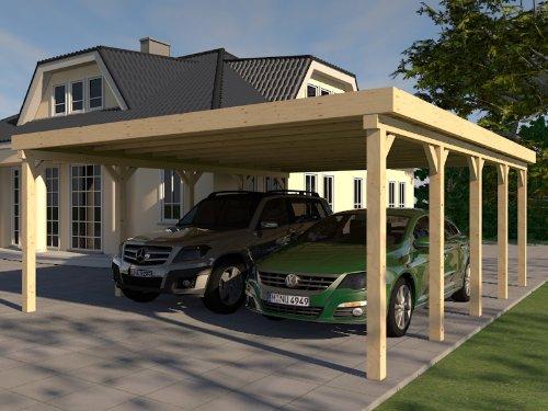 Carport Flachdach SILVERSTONE VII 700x700 cm Bausatz