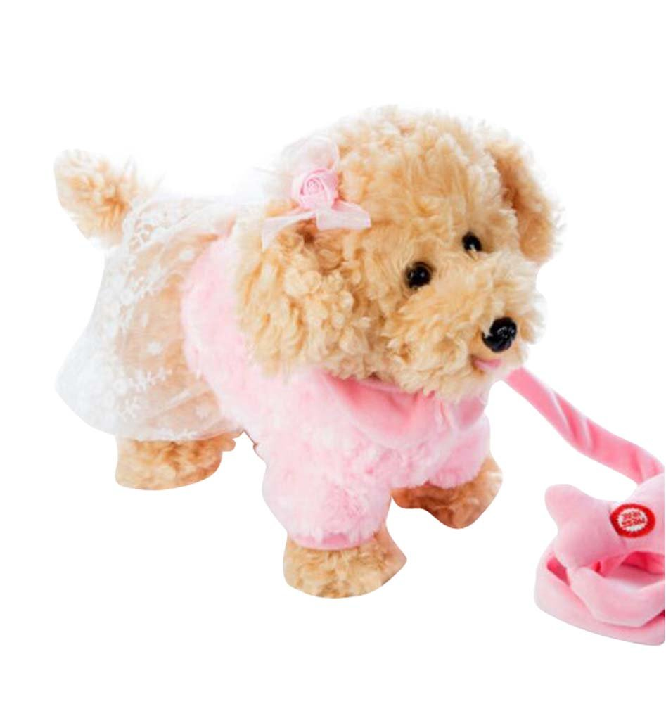 Electronic Plush Toy Dog Remote Control Machinery Pet-Pink/Sister