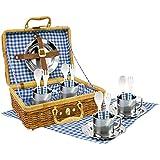 Tachan Set picnic vichy en cesta de mimbre (CPA Toy Group 20517)