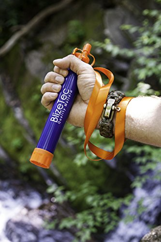 BlizeTec Water Filter Straw: Emergency Preparedness Kit; Portable, Reusable and Filter to 0.01 Microns
