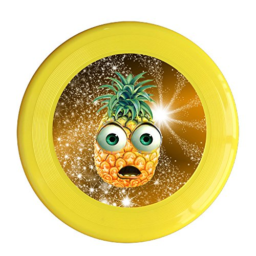 Kim Lennon Cartoon Pineapple Face Custom Outdoor Plastic Sport Disc Colors And Styles Vary Yellow Size One - Sunglasses Dartboard