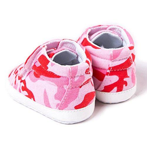 HUHU833 Kinder Mode Baby Schuhe Soft Sole, Baby Kleinkind Schuhe Tarnungs Weiche Anti Rutsch Turnschuhe Beiläufige Schuhe Junge (0~12 Month) Rot