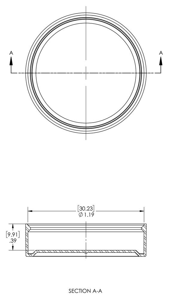 to Cap Ferrule Size - Caplugs ZCC8Q1 Plastic Cap for Split-Flange Connections to Cap Nominal Flange Size Pack of 60 SF-CC-8 Natural PE-LD