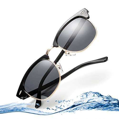 Mujer for Zhuhaijq Frame Blue Moda UV Lens Protection superlight De Hombres Gafas Black sol Gafas de Polarizadas 400 Sol OwAO7Bq