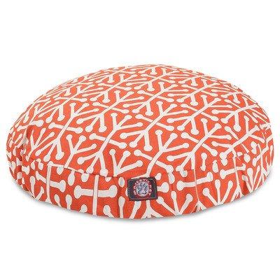 Orange Aruba Small Round Indoor Outdoor Pet Dog Bed With Rem