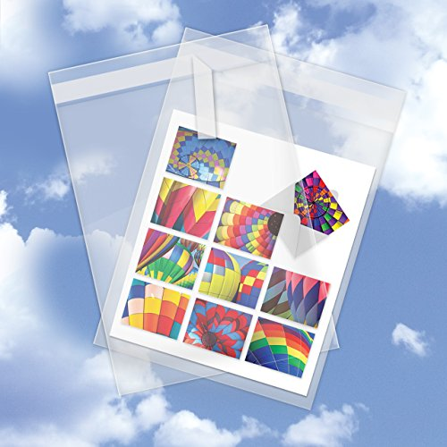 Greeting Pack 5 Cards (200 PACK of Clear Plastic Cello Sleeves (5-5/8