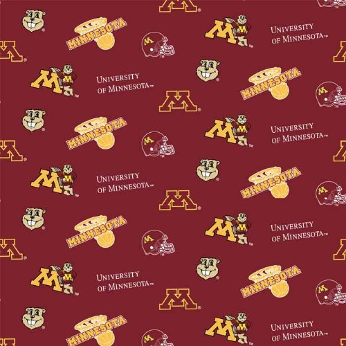 University of Minnesota Gophers Fleece Fabric - Sold By the Yard ()