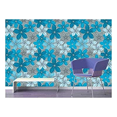 Charming Work of Art, Quality Creation, Large Wall Mural Seamless Floral Pattern Vinyl Wallpaper Removable Decorating