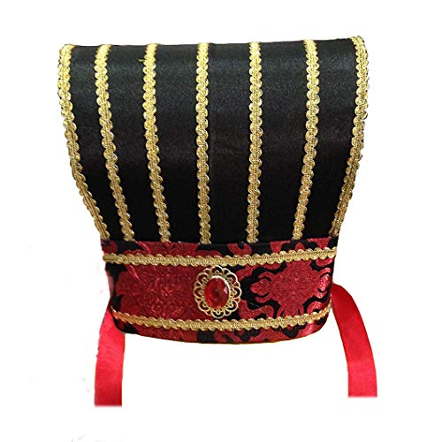 Sunny Hill Three Kingdoms Period Great Sage Zhuge Liang Ancient Scholar Cap Cosplay Chinese hat Black]()