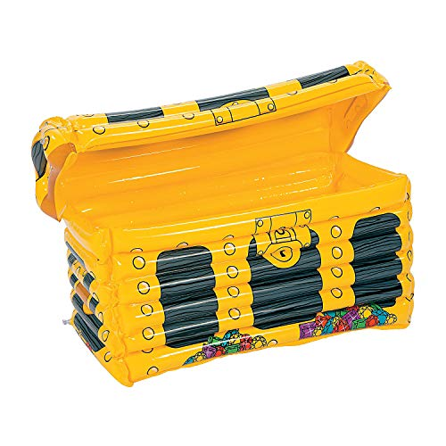 Inflatable Treasure Chest Cooler - Inflatable Treasure Chest Cooler - Pirate Party Supplies