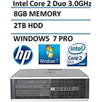 HP Elite Premium Small Form Factor High Performance Business Desktop Computer (Intel Core 2 Duo CPU 3.0GHz Processor, 8GB DDR3 Memory, 2TB HDD, DVDRW, Windows 7 Professional) (Certified Refurbished)
