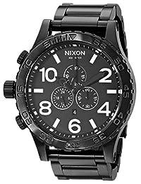 Nixon Men's A083-001 Stainless-Steel Analog Black Dial Watch