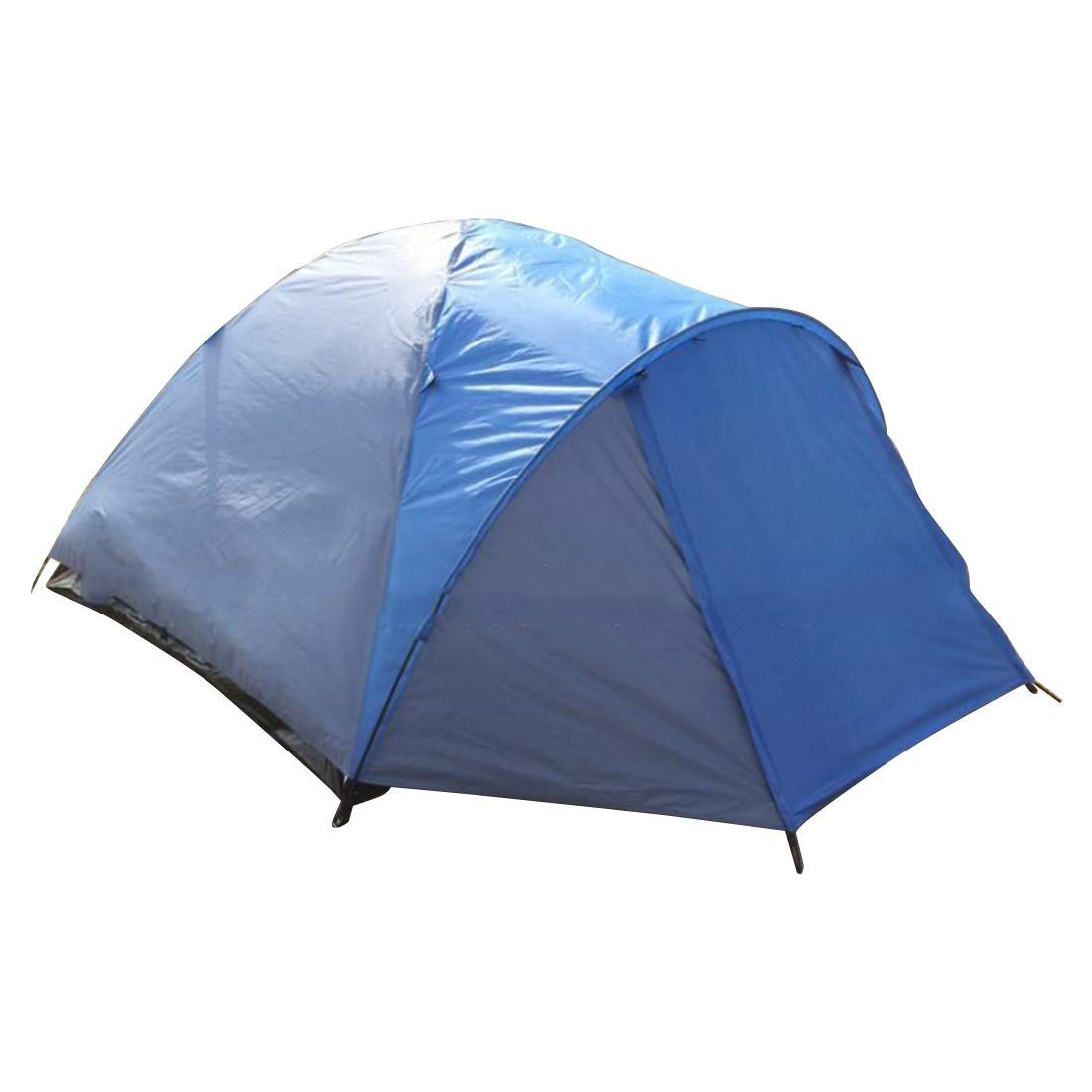 Sakuldes Outdoor Camping für 3 Personen oder 4 Personen Zelt (Farbe : Blau)