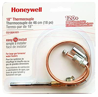 Honeywell CQ100A1021 18-Inch Replacement Thermocouple for Gas Furnaces, Boilers and Water Heaters