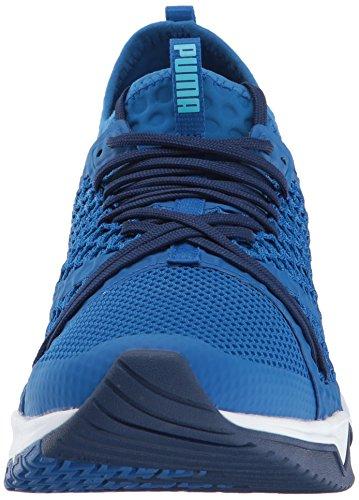 Puma Ignite XT Netfit Maschenweite Basketballschuh Lapis Blue-Puma White