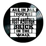 Pink Floyd Another Brick in the Wall song Lyrics on a Vinyl Record Album Wall Art