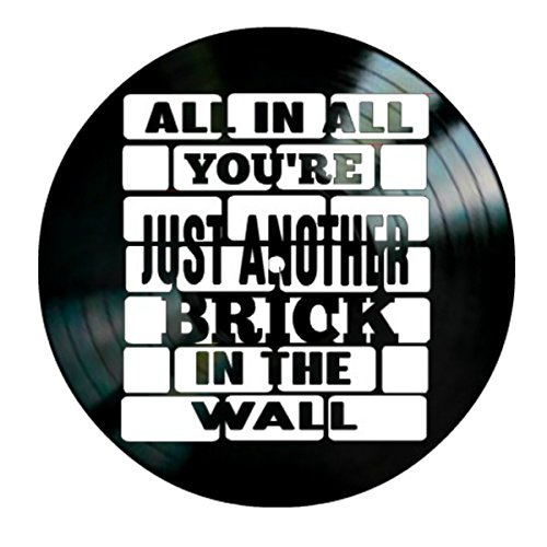 Pink Floyd Another Brick in the Wall song Lyrics on a Vinyl Record Album Wall Art by VinylRevamped