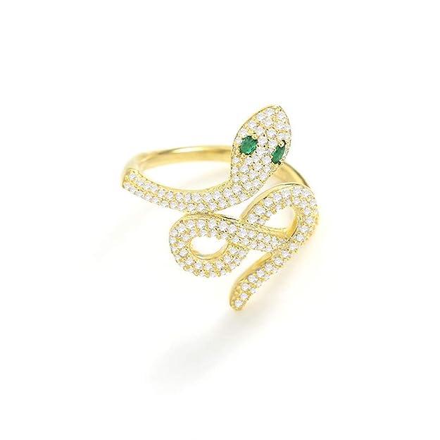 Anillo de serpiente dorado para mujer