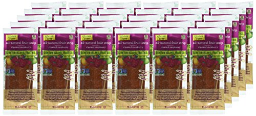 Stretch Island Original Fruit Leather, Raspberry, 0.5 Ounce Leathers, 30 Count