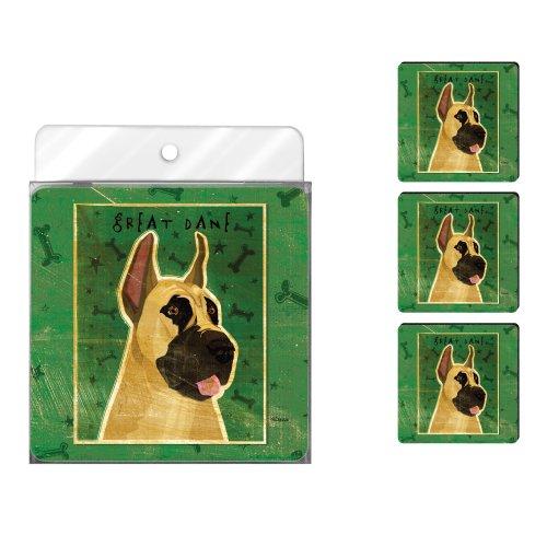 - Tree-Free Greetings NC38026 John W. Golden 4-Pack Artful Coaster Set, Great Dane