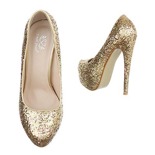 Ital-Design - Plataforma Mujer Gold XF72-Q