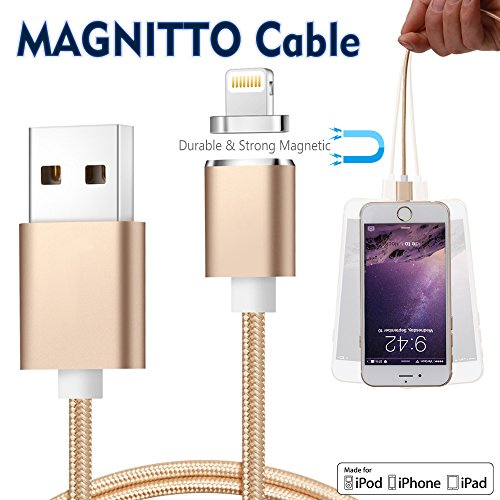 MAGNITTO Apple USB Lightning Charger Cable Nylon Braided Detachable Super Magnetic with...