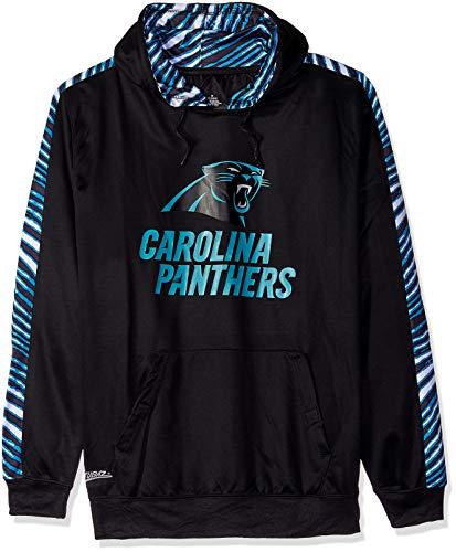 (Zubaz NFL North Carolina Panthers Mens Pullover Hood, Black, X-Large)