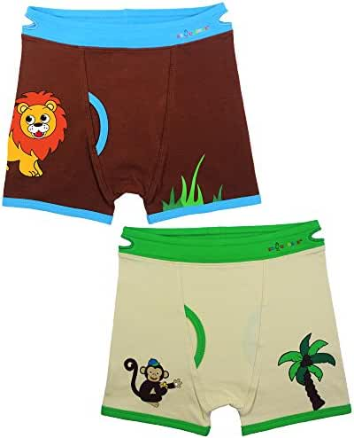 Boys Boxers Toddler Training Underwear with Easy Pull Up Handles