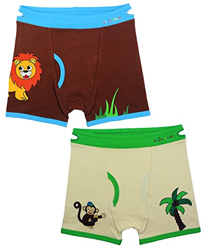 Toddler Boys Monkey (Ez Undeez Boys Boxers Toddler Training Underwear, Monkey-Lion, 2-3 Yr)