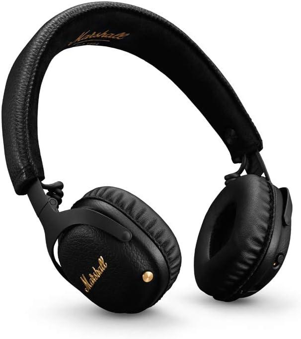 Marshall Mid Active Cancelación de Ruido (A.N.C.) Auriculares con Bluetooth, Negro