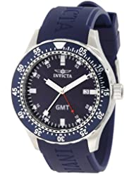 Invicta Mens 11256 Specialty GMT Blue Dial Blue Polyurethane Watch