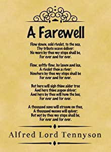 A4 Size Parchment Poster Classic Poem Alfred Lord Tennyson ...