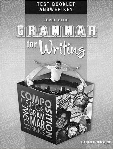 sadlier grammar for writing grade 9 answer key pdf