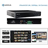 Camius IPVault4320 16-channel 4K NVR, fits 4 Sata Hard Drives, supports Onvif IP cameras up to 8MP, H.264/H.265, 320Mbps bandwidth, PC, Mac, Mobile compatible