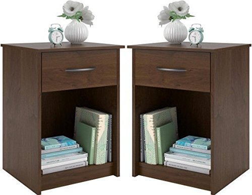 Night Stand End Table Set of 2