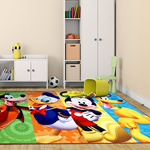 Disney Mickey Mouse Patterned Area Rug Whimsical Goofy