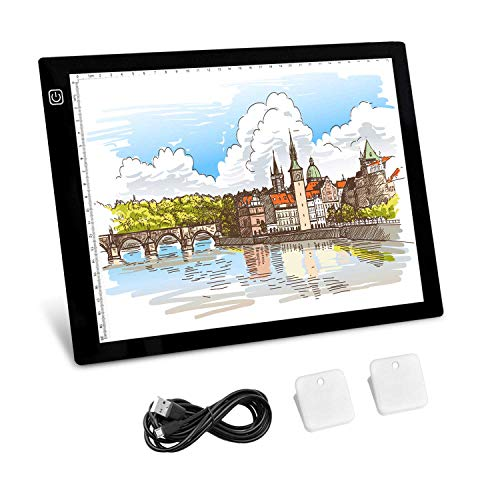 [Updated] Tracing Light Box, A4 LED Light Pad A4 Light Box for Artists, Drawing, Sketching, Animation [12 Month Warranty] ()