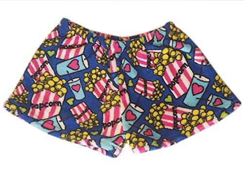 Confetti and Friends Fuzzy Plush Shorts - Popcorn Love - 7/8