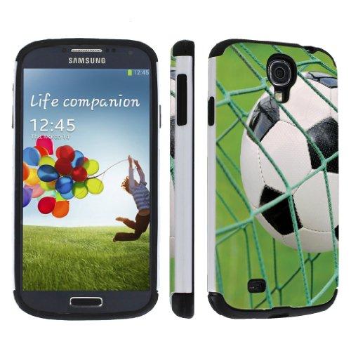 NakedShield Samsung Galaxy S4 Soccer Goal Hybrid DUO Armor Art Phone Case
