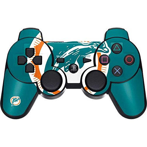Skinit Miami Dolphins Retro Logo PS3 Dual Shock Wireless Controller Skin - Officially Licensed NFL Gaming Decal - Ultra Thin, Lightweight Vinyl Decal ()