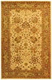 4'6'' x 6'6'' Oval Safavieh Area Rug AT21F-5OV Ivory Color Hand Tufted India ''Antiquities Collection''